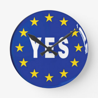 EUへのYes -欧州連合の滞在 ラウンド壁時計