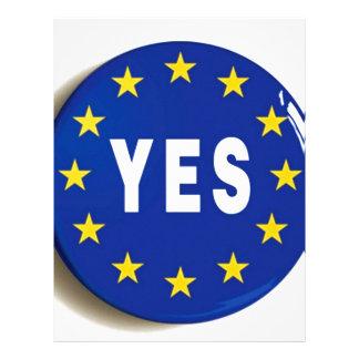 EUへのYes -欧州連合の滞在 レターヘッド