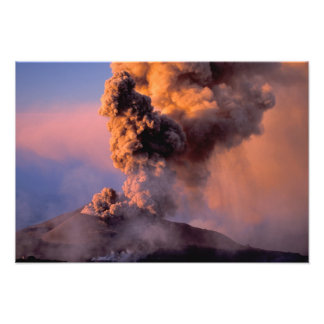 EU、イタリア、シシリーのエトナ火山の頂上の出口 フォトプリント