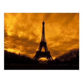 EU、フランス、パリ。  エッフェル塔 ポストカード