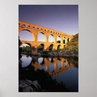 EU、フランス、プロバンス、ガード、Pont DUガード ポスター