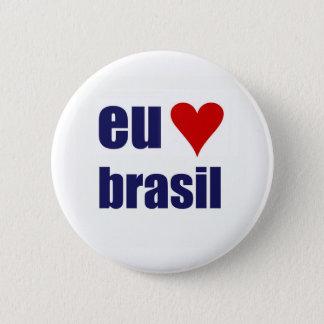 EU amoブラジル 5.7cm 丸型バッジ