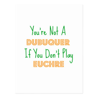 Euchre Dubuqueアイオワ ポストカード