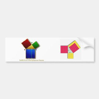 Euclidのピタゴラスの定理の証拠 バンパーステッカー