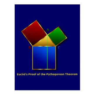 Euclidのピタゴラスの定理の証拠 ポストカード