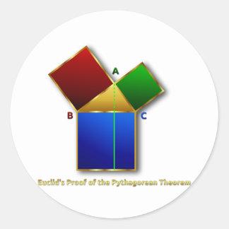 Euclidのピタゴラスの定理の証拠 ラウンドシール