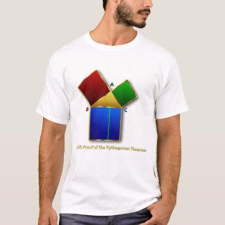 Euclidのピタゴラスの定理の証拠 Tシャツ