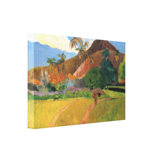 Eugèneアンリーポール・ゴーギャン-タヒチの山 キャンバスプリント