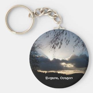 Eugeneのオレゴンの日没 キーホルダー