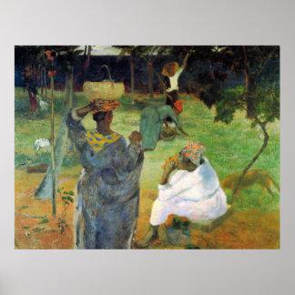 Eugèneアンリーポール・ゴーギャン著マンゴのフルーツ ポスター