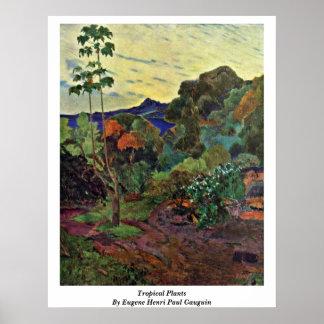 Eugeneアンリーポール・ゴーギャン著熱帯植物 ポスター