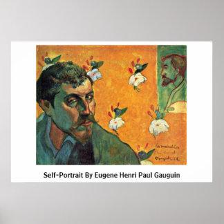 Eugeneアンリーポール・ゴーギャン著自画像 ポスター