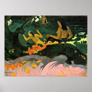 Eugeneアンリーポール・ゴーギャン-海による… ポスター