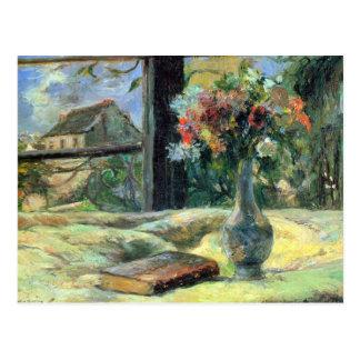 Eugèneアンリーポール・ゴーギャン-窓の花つぼ ポストカード