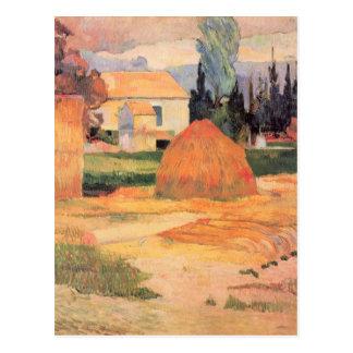 Eugèneアンリーポール・ゴーギャン- Arlesの農家 ポストカード