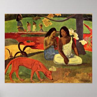 Eugeneアンリーポール・ゴーギャン- Joyfulness ポスター