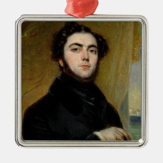 Eugeneスー1837年のポートレート メタルオーナメント