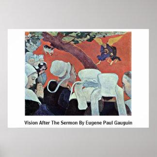 Eugeneポール・ゴーギャン著説教の後の視野 ポスター
