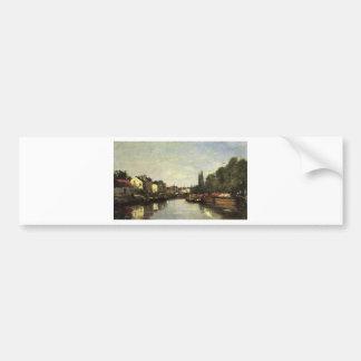 Eugene Boudin著ブリュッセル、ルーバンの運河 バンパーステッカー