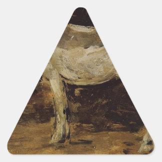 Eugene Boudin著白馬 三角形シール