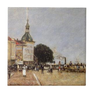 Eugene Boudin著Dordrechtの町 タイル