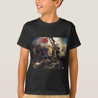 Eugene Delacroix著人々を導く自由 Tシャツ