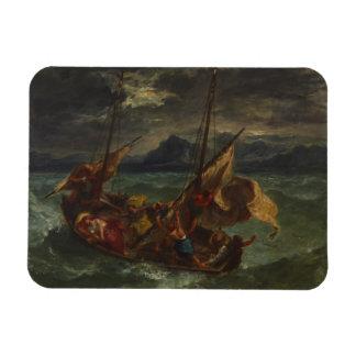 Eugene Delacroix -ガリラヤの海のキリスト マグネット