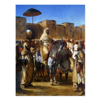 Eugene Delacroix-モロッコの去ることのサルタン ポストカード