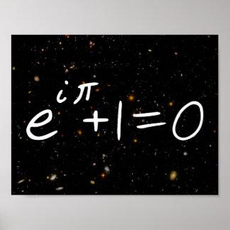 Eulerのアイデンティティ深い分野の銀河系 ポスター