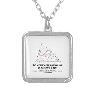 Eulerのラインはどのラインであるか知っていますか。 (幾何学) シルバープレートネックレス