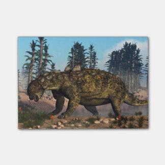 Euoplocephalusの恐竜- 3Dは描写します ポストイット