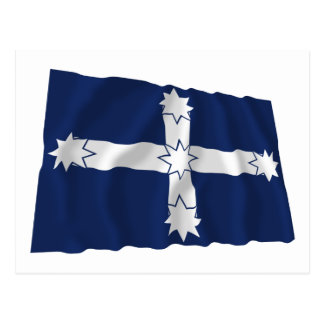 Eurekaの柵の振る旗 ポストカード