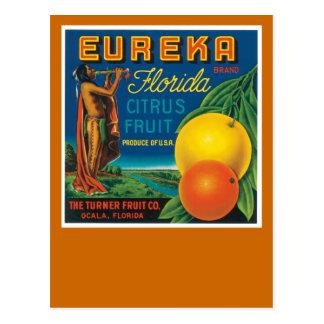 Eurekaフロリダの柑橘類 ポストカード