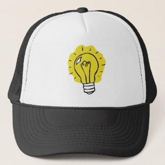 Eureka! アイディアの電球のイラストレーションの帽子 キャップ