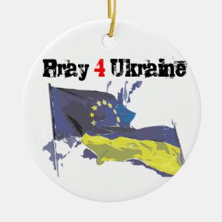 Euromaidanは= 4つウクライナ=自由を祈ります セラミックオーナメント