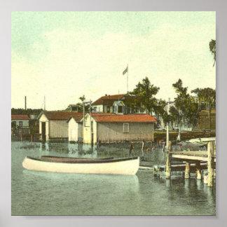EUSTIS、FLの水辺地帯、- 1907年 ポスター