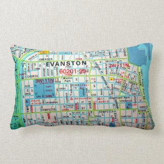 EVANSTONのILのヴィンテージの地図 ランバークッション