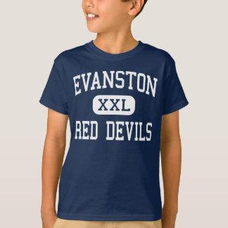 Evanston -赤い悪魔-高Evanstonワイオミング Tシャツ