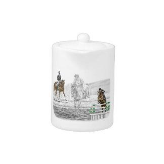 Eventingの3日間の馬の連合訓練