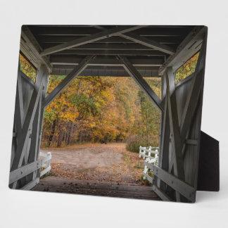 Everattの道の屋根付橋 フォトプラーク