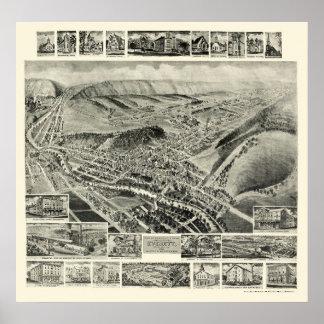 EverettのPAのパノラマ式の地図- 1905年 ポスター