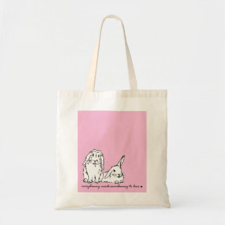 Everybunnyはsomebunnyバッグを愛する必要があります トートバッグ