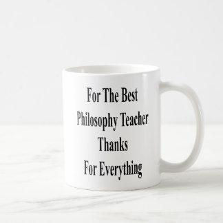 Everythのベストの哲学の先生の感謝のため コーヒーマグカップ