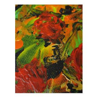 Evitavicの絵画コレクションの赤いバラ はがき
