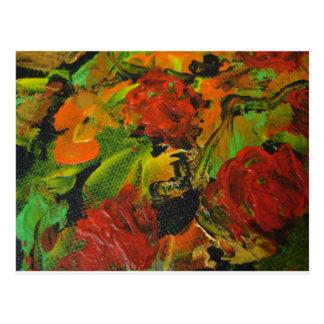 Evitavicの絵画コレクションの赤いバラ ポストカード