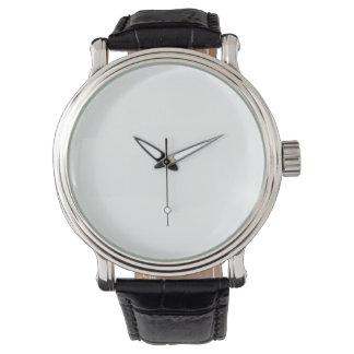eWatchの男性用ヴィンテージの黒の革バンドの腕時計 腕時計