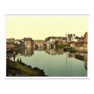 Exbridgeのエクセター、イギリスのクラシックPhotochrom ポストカード