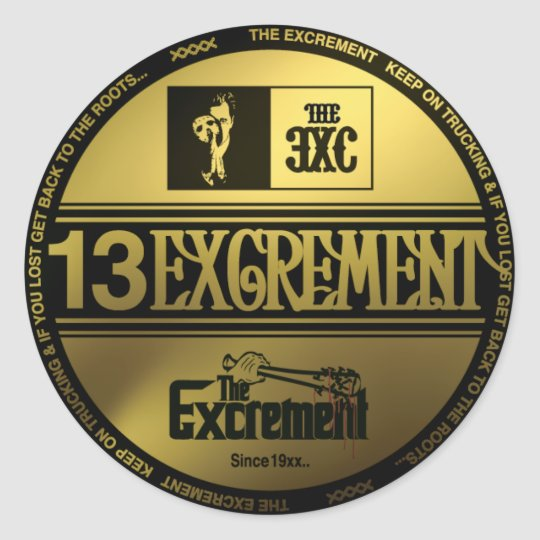 excrement_Sticker ラウンドシール