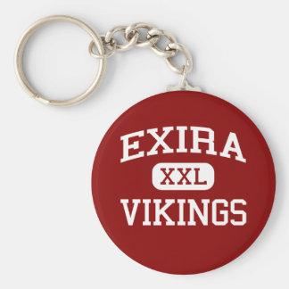 Exira -バイキング- Exiraの高等学校- Exiraアイオワ ベーシック丸型缶キーホルダー