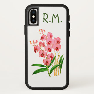 Exotic Pink Orchids Personalized iPhone X Case iPhone X ケース